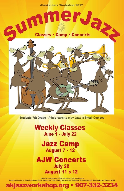 2017 AJW Summer Class, Camp, Concert Poster